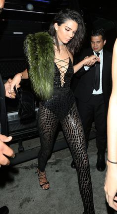 Kendall Jenner arrives at Catch to kick off the celebrations