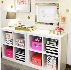 Ideal storage for small spaces...... buy these storage cubes in ikea for around £20 in the uk