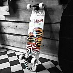 Jet Skateboatds - Invasion Burger  #jetskateboards #longboard #skateboard Longboards, Skateboards, Jet, Long Boarding, Skateboard, Skateboarding