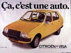 Citroën Visa depliant Horrible car La voiture était moche aussi! Le bruit du moteur de l'Ami6 +!