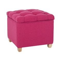 Looking for the perfect pop of color in your living area or bedroom? Then have a look at this gorgeous Callie Tufted Storage Ottoman. Upholstered in s beautiful berry hue, this ottoman offers a beautif...  Find the Callie Tufted Storage Ottoman, as seen in the Pretty & Polished Mid-Century Collection at http://dotandbo.com/collections/pretty-and-polished-mid-century?utm_source=pinterest&utm_medium=organic&db_sku=111564