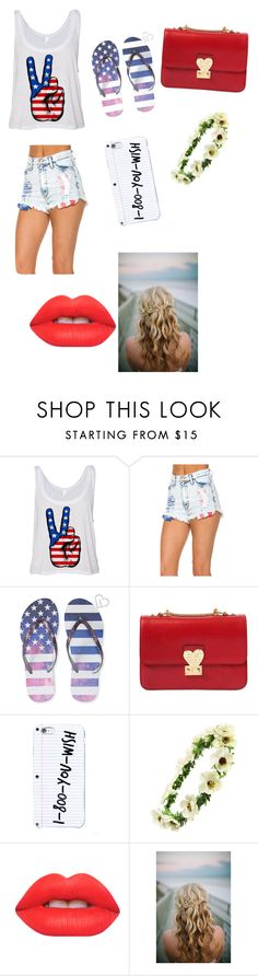"""4 of July party"" by trust-kashmir ❤ liked on Polyvore featuring Aéropostale, Valentino, Cara and Lime Crime"