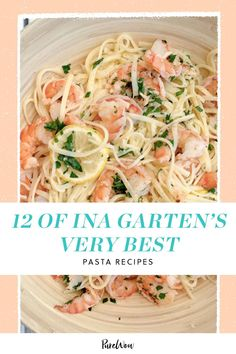 The Barefoot Contessa and pasta go hand in hand. They're both effortless, classic and always there for you. Here, 12 of the Ina Garten's best pasta recipes. How cheesy is that? (Sorry, had to.) Best Pasta Recipes, Cooking Recipes, Best Ina Garten Recipes, Barefoot Contessa, Baked Ziti, Meat Lovers, The Best, Recipies, Vegetarian