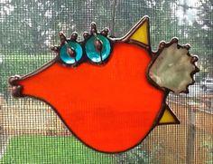 Vidrieras Lil' pez chopa por LBFGlass en Etsy, $25.00