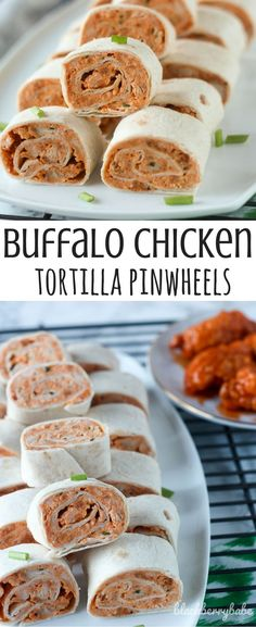 Buffalo Chicken Tortilla Pinwheels! So easy and they taste just like hot wings. The perfect game day appetizer for football parties or tailgates!  #GameDaySnackHacks ad #buffalochicken