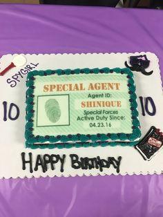 Mi Spy party cake Birthday Party Ideas Pinterest Spy party