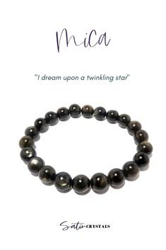 When you wish upon a star, miracles can happen. This Mica bracelet works in mysterious ways to make your dreams come true. Click to shop Satin Crystals now or Pin to save for later. #crystals #gemstones #bracelets #jewelry Friendship Love, Midnight Sky, Sparkles Glitter, Bracelet Sizes, Stretch Bracelets, A Boutique, Mysterious, Crystal Healing, The Dreamers