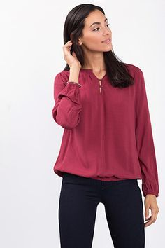 EDC / Floaty toggle detail blouse