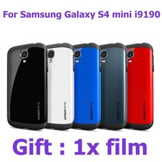 S4mini anti-knock Tough silm Armor Armour Protect Shield phone bags Cases for samsung galaxy s4 mini i9190 cover with 1pcs film