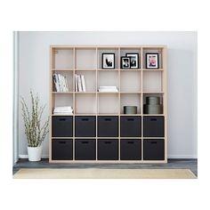 KALLAX Shelving unit - white stained oak effect - IKEA