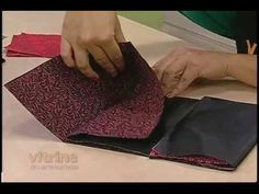 Origami em Tecido - Thais Kato - Vitrine do Artesanato na TV - carteira