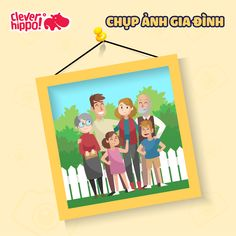 Chụp ảnh gia đình Clever, Facebook, Drawings, Frame, Design, Decor, Picture Frame, Decoration, Draw