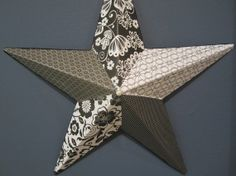 Black Gray and White Decorative 14 Metal Star by JnJDecor on Etsy, $25.00