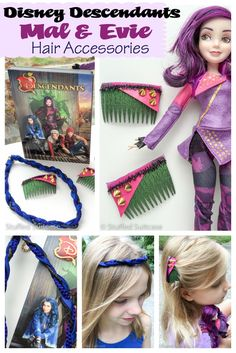Do you kids love the latest Disney movie Descendants?  Perhaps you need a Descendants costume for Mal or Evie? Well, here is a fun DIY for hair accessories that are a perfect fit for your Disney loving kid!