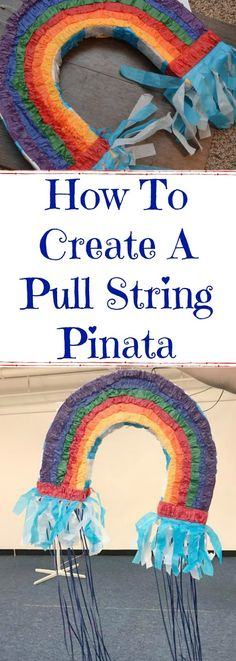 Turn A Traditional Pinata into a Pull String Pinata, make a pull string pinata, how to make a pull string pinata, convert a regular pinata into a pull string pinata, pull string pinata ideas, pinatas for parties, pull string pinata DIY