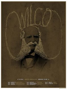 Saw Wilco at The Fargo Civic Auditorium with Jim M and picked up this poster. I wish Wilco would make a coffee table book of all their concert posters.