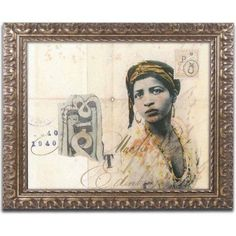 Trademark Fine Art 'Ronda Maur' Canvas Art by Nick Bantock, Gold Ornate Frame, Size: 11 x 14, Assorted