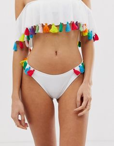 Buy ASOS DESIGN recycled tassel side bikini bottom in white at ASOS. With free delivery and return options (Ts&Cs apply), online shopping has never been so easy. Get the latest trends with ASOS now. Bikini Bottoms, Fashion Online, Tassels, Recycling, Asos, Bikinis, Holiday, Summer, Design