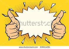 thumb up like. Pop art retro vector illustration
