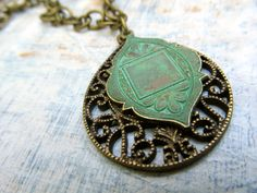 Long Ethnic Necklace Moroccan pendant necklace Bohemian jewelry Patina jewelry by Gypsymoondesigns on Etsy https://www.etsy.com/listing/80362666/long-ethnic-necklace-moroccan-pendant