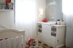 החדר של אלי הקטן עוצב בסגנון מתון ושלו