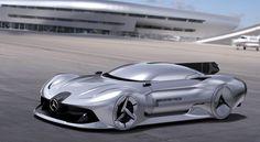 2040 mercedes-benz streamliner is a retro-futuristic concept