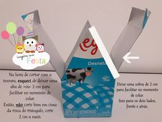 Literally, this step of a birdhouse with a milk carton is the real Trash or Luxury. I love recycling, and it was sensational ! Milk Box, Free To Use Images, Arts And Crafts, Diy Crafts, Covered Boxes, For Your Party, Paper Gifts, Masking Tape, Bird Houses