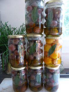 4 SEPTEMBRE - CONSERVES - tomates cerises en bocaux stérilisés - PASSION POTAGER