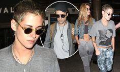 Kristen Stewart is seen with GF on flight with ex Robert Pattinson