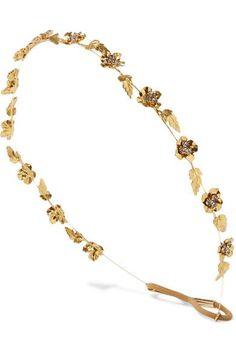 Jennifer Behr - Margaux gold-plated Swarovski crystal headband