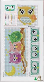 Lots of Owl cross stitch! Several pages of patterns with color charts.