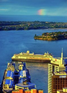 Auckland Harbour, New Zealand. I felt at home the minute I stepped off the plane. New Zealand Cruises, New Zealand Travel, Free Vacations, Vacation Trips, Vacation Ideas, Holidays Around The World, Around The Worlds, Places To Travel, Places To See