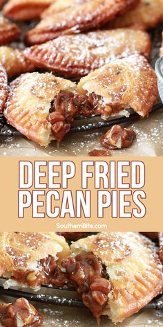 Fried Hand Pies, Fried Apple Pies, Easy Pie Recipes, Pecan Recipes, Cooking Recipes, Pecan Pie Filling, Pecan Pies, Deep Fried Desserts, Deep Fried Foods