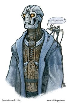 Rusty the Warforged Artificer with familiar by =emla on deviantART