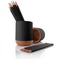 Stiftebecher Bambus schwarz