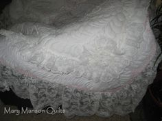 Working on a Wedding Dress Quilt