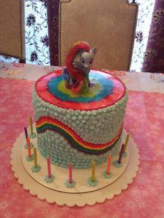 Daughter rainbow dash cake