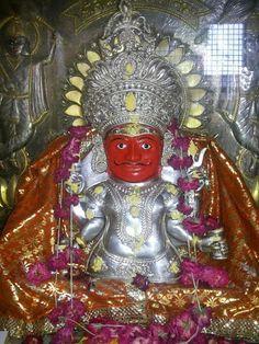 Shri Nakoda Bheruji at Shri Rushabhdevji Temple at KHARA KUVA at Ujjain, shared by Deepak ji. Lord Shiva Statue, Durga Maa, India Beauty, Ganesha, Social Platform, Temple, Morning Quotes, History, Wallpaper