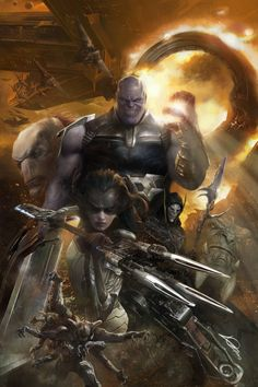 Marvel Avengers Infinity War Thanos and The Black Order by Alexander Lozano comic artist reference Marvel Comics, Ms Marvel, Marvel Heroes, Marvel Characters, Marvel Villains, War Comics, Captain Marvel, The Avengers, Thanos Avengers