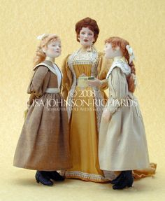 Lisa Johnson-Richards, Miniature Doll Artist & Couturiere (Victorian Era)