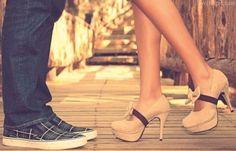 Cute Shoes love fashion cute kiss pink shoes couple bows high heels