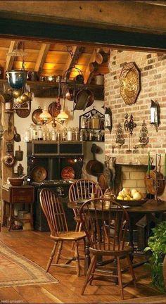 40 Amazing Modern Farmhouse Kitchen Table Design Ideas 12 Rustic kitchen Witch decor Country house decor