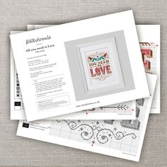 All you need is Love Cross Stitch Pattern Digital by Stitchrovia