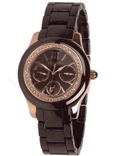 Vendoux Paris ladies watch. Taste of extravangance, ceramic multi function watch with swarovski bling. € 180,- now for € 89,- www.megawatchoutlet.com