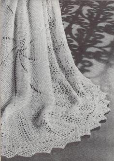 Pinwheel Shawl 1950s Knit Afghan Pattern Vintage by TheStarShop, $3.75