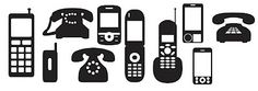 Free SVG Cut Files Telephones
