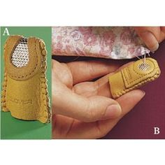 leather thimbles...I have one. Love it. Very comfortable and easy to use.