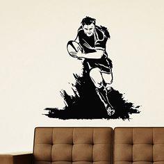 Wall Decal Vinyl Sticker Gym Sport Rugby American Football Player Decor Sb217 ElegantWallDecals http://www.amazon.com/dp/B011LLPNTY/ref=cm_sw_r_pi_dp_F0iXvb1NWD11K