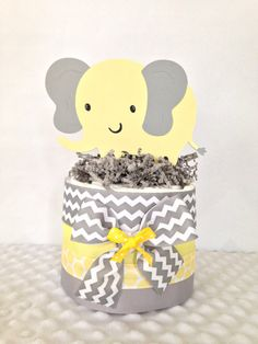 Order 2 for cake table.  Mini Elephant Theme Baby Shower Diaper Cake in by AllDiaperCakes