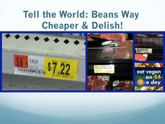 Comparing the price of beef tenderloin which just hit $.99 an ounce vs. beans at $.05! What's in your wallet?